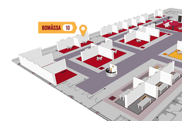 Map of exhibitors